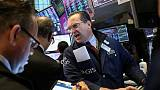 Stocks fall, dollar, yields climb as Fed rate cut seen less likely