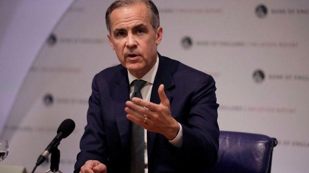 """كارني يتوقع """"أكثر من زيادة واحدة"""" في أسعار الفائدة البريطانية على مدار الأعوام الثلاثة القادمة"""