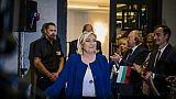 Marine Le Pen, présidente du Rassemblement National, à Sofia, le 3 mai 2019