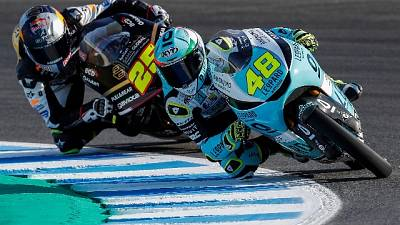 Spagna, a Dalla Porta la pole in Moto3