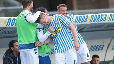 4-0 al Chievo,Spal matematicamente salva