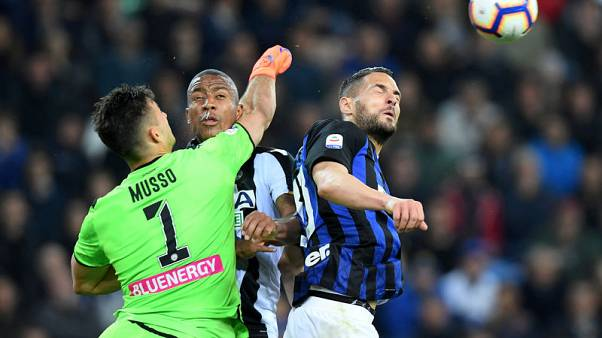 Inter Milan held to another stalemate away to struggling Udinese