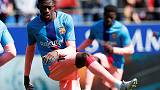 Barca's Dembele a doubt for Liverpool trip with hamstring problem