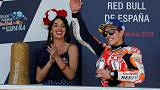 MotoGP champion Marquez goes top after win in Spain