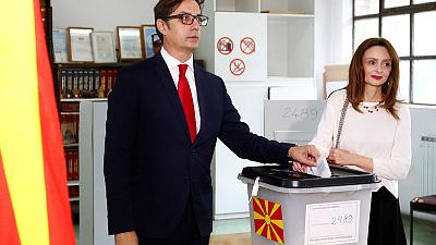 North Macedonia's pro-Western candidate appears set to win presidential vote-early results