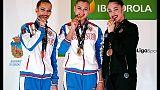 Ritmica: cinque medaglie per le azzurre