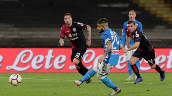 Insigne's late strike gives second-placed Napoli win over Cagliari
