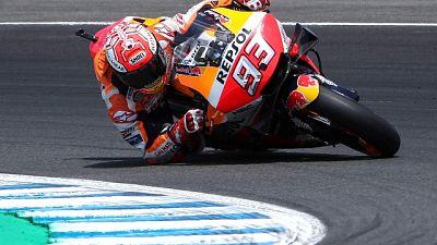 Test MotoGp: Marquez non molla mai