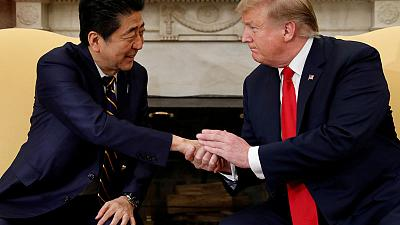 Trump says spoke with Japan's Abe on North Korea, trade