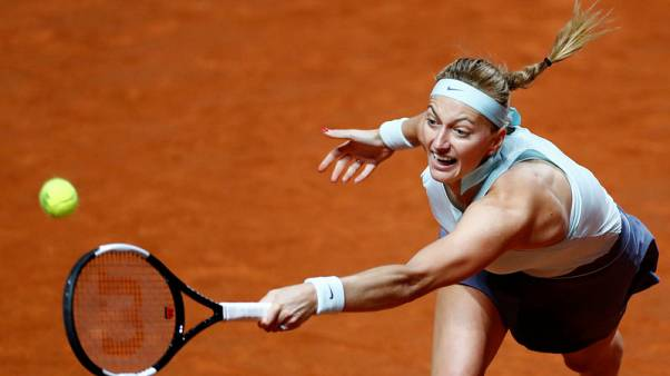 Tennis - Defending champion Kvitova reaches Madrid third round