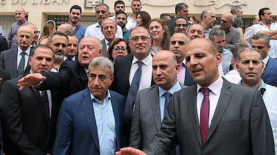 Lebanon central bank workers strike, PM demands budgetary 'realism'