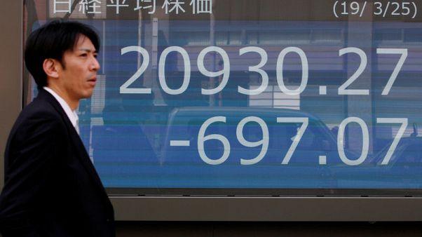 نيكي يتراجع بفعل توترات التجارة الأمريكية الصينية وسهم سوني يرتفع