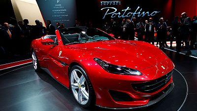 Ferrari tops first-quarter profit forecast, shares surge