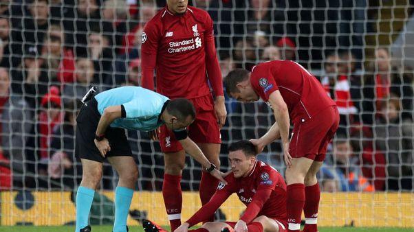 روبرتسون لاعب ليفربول يأمل ألا تبعده إصابة في ربلة الساق طويلا