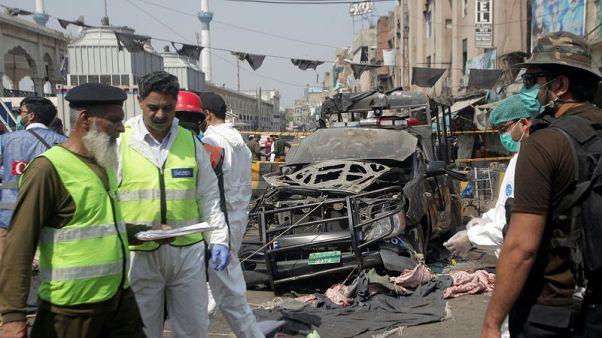 Blast near shrine in Pakistan, nine dead - police