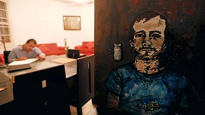 Ex-convict's drawings reveal life behind bars in Egypt
