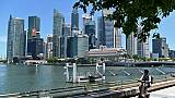 Devant le quartier d'affaires de Singapour, le 6 mai 2019.