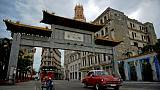 La porte d'entrée du quartier chinois à La Havane, le 11 avril 2019 à Cuba