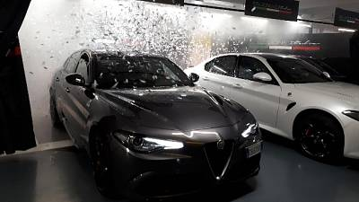 Hertz 'corre' con l'Alfa Romeo Giulia