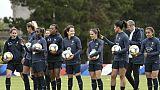 L'équipe de France féminine à l'entraînement à Perros-Guirec, le 9 mai 2019