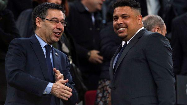 Ronaldo rubbishes Super League idea, defends Barcelona season