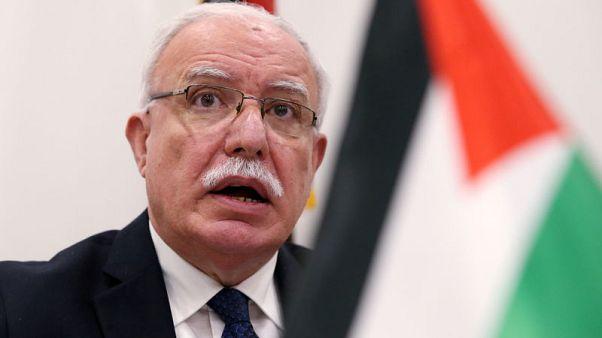 وزير الخارجية الفلسطيني يقول أمريكا تصوغ خطة استسلام لا اتفاق سلام