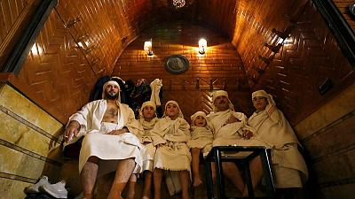 In Syria's Aleppo, the customers are back in the bathhouse