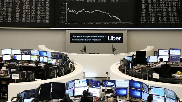 European shares bounce off six week lows on trade deal hopes