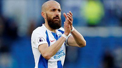 Soccer-Brighton's 'El Capitan' Bruno to retire after Man City match
