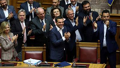 Greek PM Tsipras wins confidence vote weeks before EU election