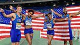 Mondiaux de relais: coup double pour les USA