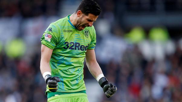 Leeds win 1-0 at Derby in playoff semi-final first leg