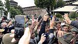 Alpini, da 2 giovani 'buu' a Salvini