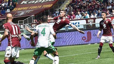Torino-Sassuolo 3-2