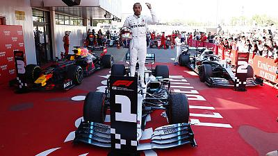 Hamilton back on top with victory in Spain