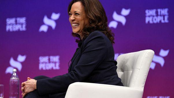 U.S. presidential contender Kamala Harris favours look at breaking up Facebook