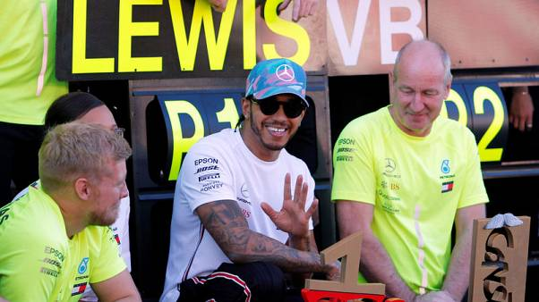 Motor racing - Hamilton hails history in the making after another one-two