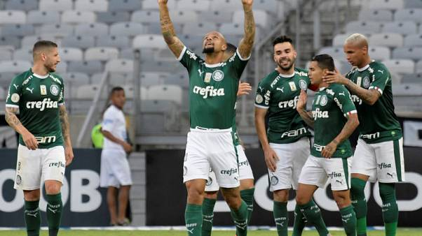 Palmeiras win 2-0 to go top of Brazil's Serie A