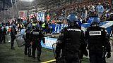 OM-OL: tentative d'envahissement du terrain et tension autour du Vélodrome