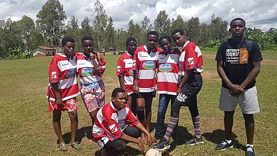 Rugby Rwanda Lion de fer women's team Dominate women's rugby 7's tourney