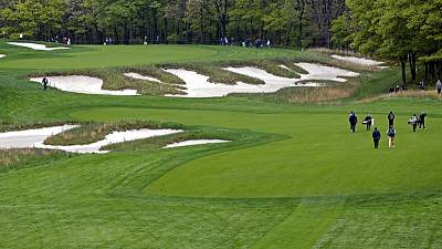 Golf - Rain par for the course during major week at Bethpage
