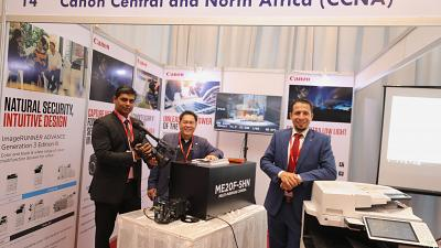 Canon currently at East Africa Com welcomes visitors to come and see the latest in technologies at booth 14