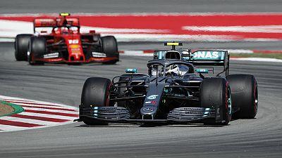 Bottas fastest for Mercedes in Barcelona test