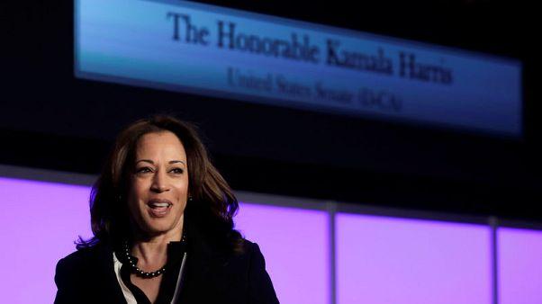 Senator Harris to promise ban on U.S. imports of some high-powered guns