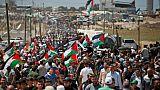 """Des milliers de Palestiniens manifestent pour commémorer la """"catastrophe"""""""