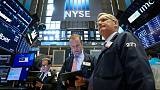 Stocks gain after earnings, deal news, data; U.S. yields move up