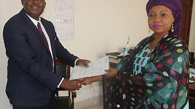 New WHO Representative in Sierra Leone presents credentials to the Minister of Foreign Affairs and International Cooperation
