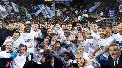 Coppa Italia, festa Lazio con i tifosi