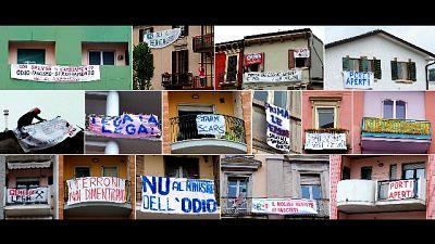 A Milano 49 striscioni contro Salvini