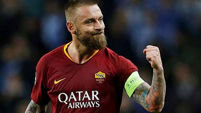 Roma's Champions League push overshadowed by De Rossi departure